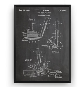 Golf Sand Wedge 1963 Patent Print - Magic Posters