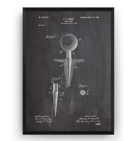 Golf Tee Patent Print - Magic Posters