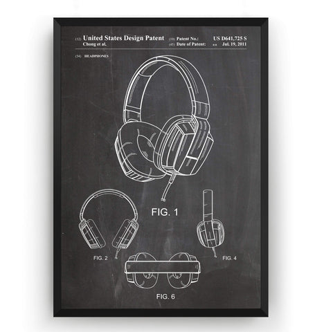 Headphones 2011 Patent Print - Magic Posters