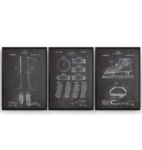 Ice Hockey Set Of 3 Patent Prints - Magic Posters