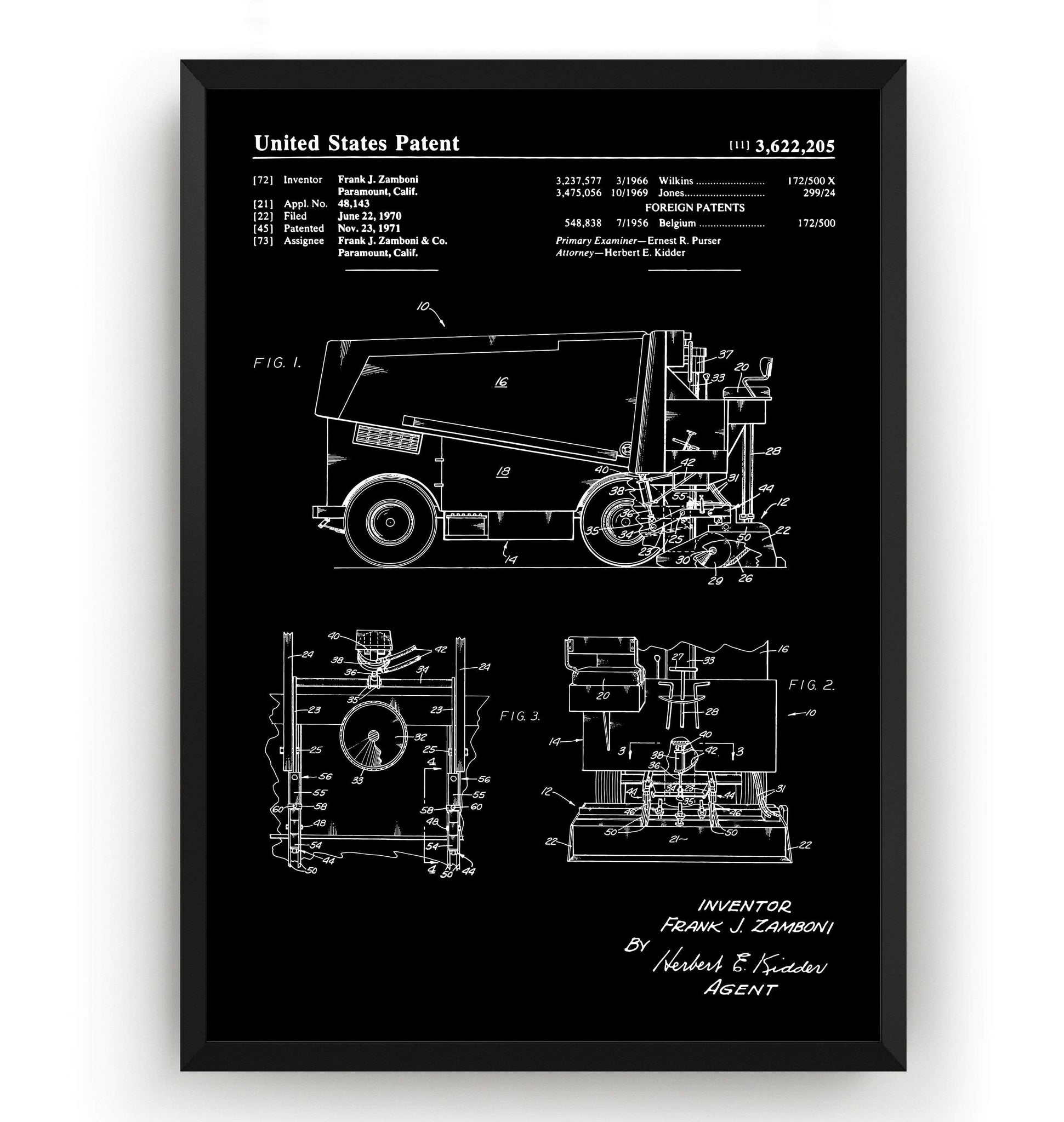 Ice Resurfacing Machine Patent Print - Magic Posters