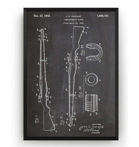 M-1 Rifle 1932 Patent Print - Magic Posters