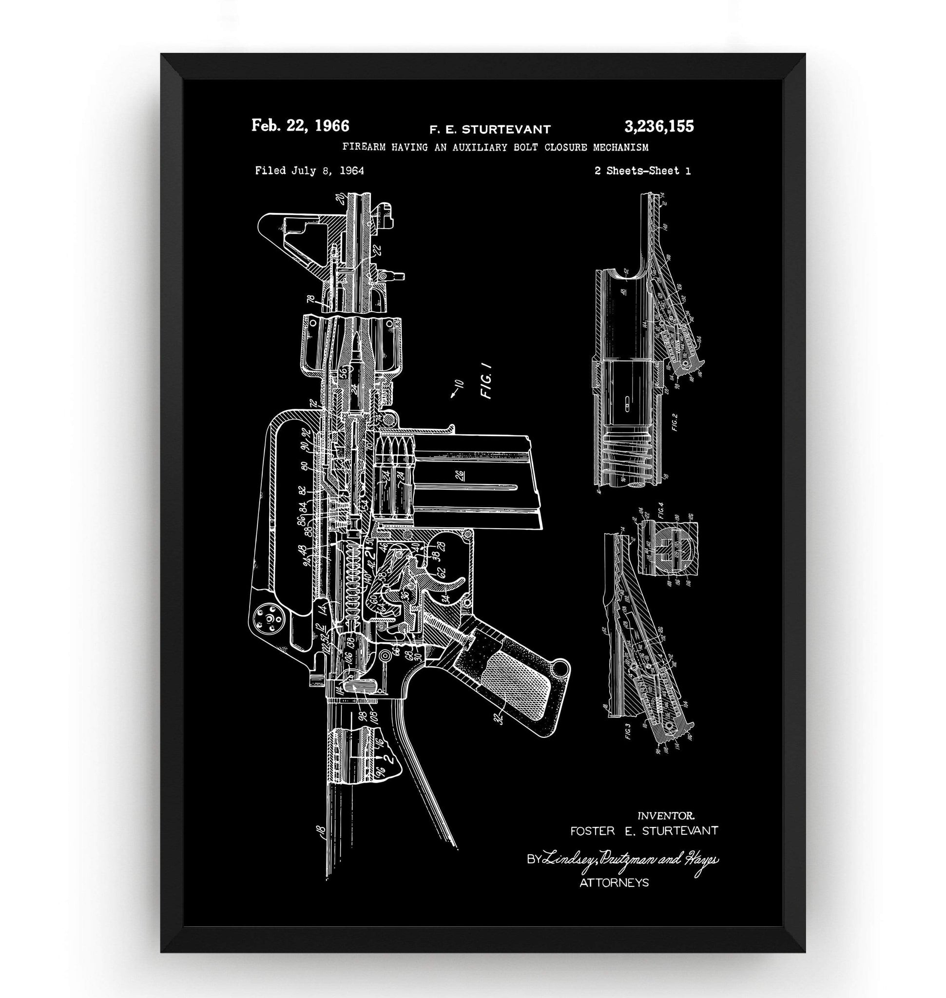 M-16 Patent Print - Magic Posters