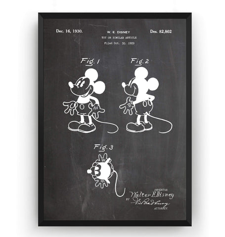 Mickey Mouse Patent Print - Magic Posters