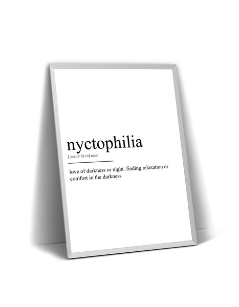 Nyctophilia Definition Print - Magic Posters