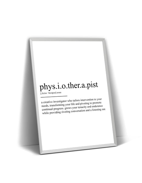 Physiotherapist Definition Print - Magic Posters