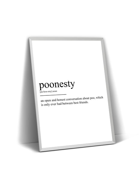Poonesty Definition Print - Magic Posters