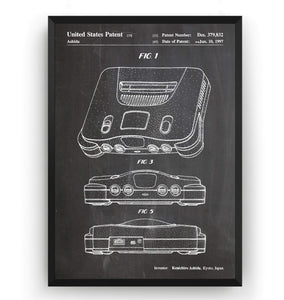 N64 1997 Patent Print - Magic Posters