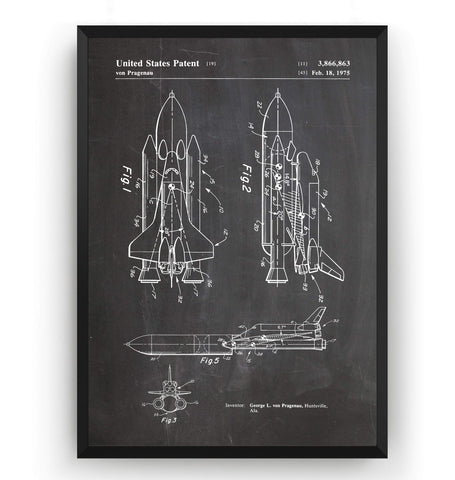 NASA Space Shuttle Patent Print - Magic Posters