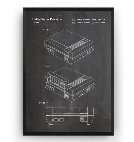 Nintendo Patent Print - Magic Posters