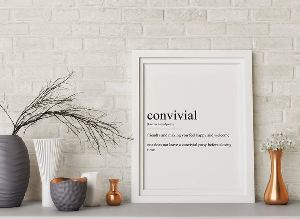 Convivial Definition Print - Magic Posters
