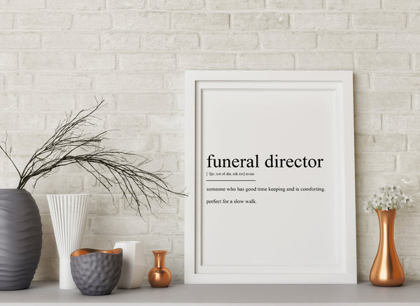 Funeral Director Definition Print - Magic Posters