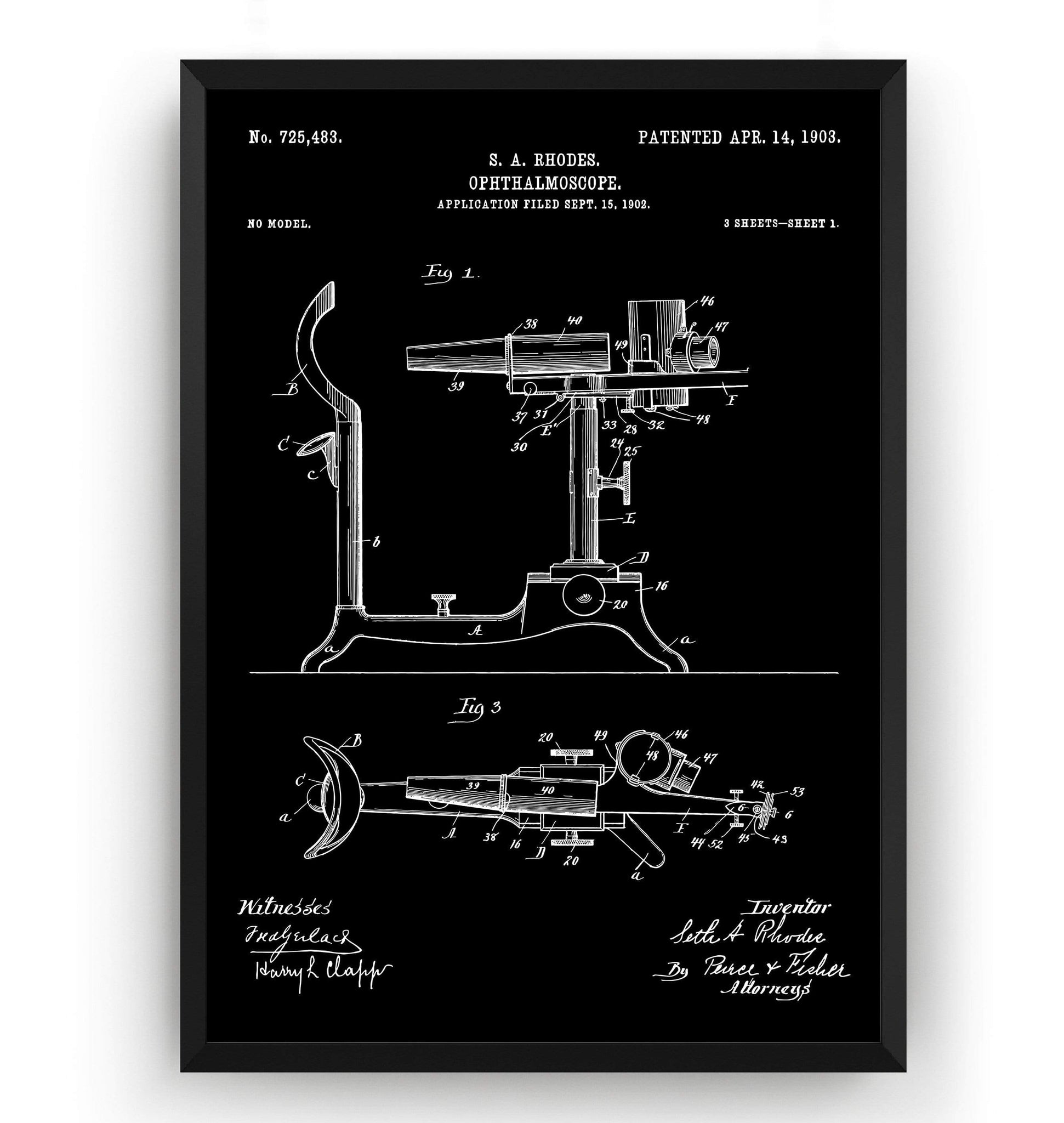 Ophthalmoscope 1903 Patent Print - Magic Posters