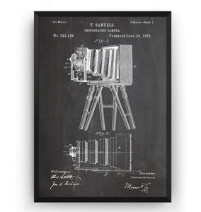 Photographic Camera 1885 Patent Print - Magic Posters