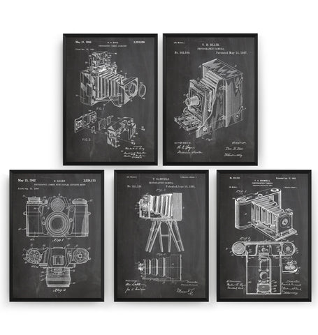 Photography Set Of 5 Patent Prints - Magic Posters