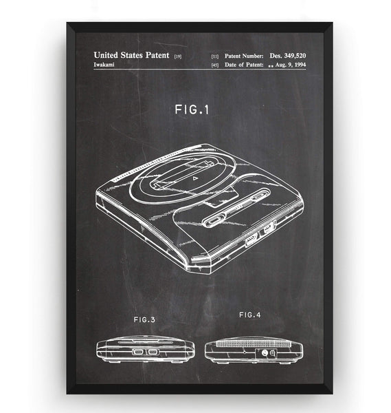 SEGA Mega Drive Patent Print - Magic Posters