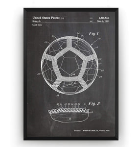 Soccer Ball 1982 Patent Print - Magic Posters