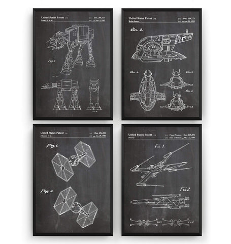 Star Wars Set Of 4 Patent Prints - Magic Posters