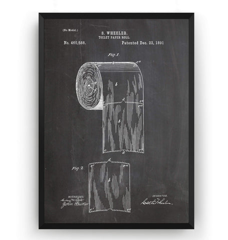Toilet Roll Patent Print - Magic Posters