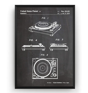 Turntable 1979 Patent Print - Magic Posters