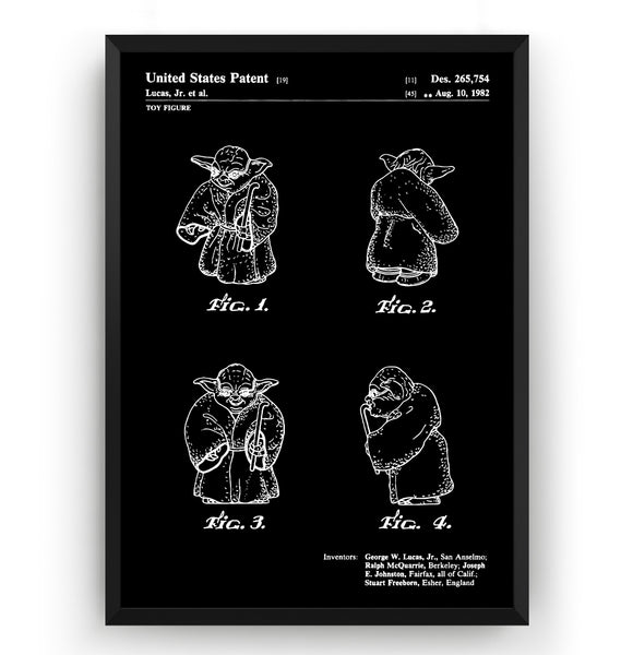 Yoda 1982 Patent Print - Magic Posters