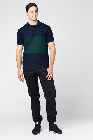 Hero Polo Shirt - Navy & Deep Green
