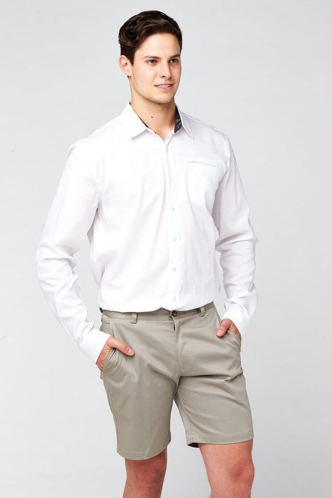Hero Oxford Long Sleeve Shirt - White