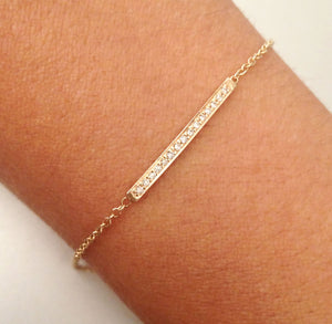 """Amina"" Diamond Bar Bracelet"