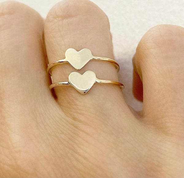 """Mini"" Faith Heart Ring"