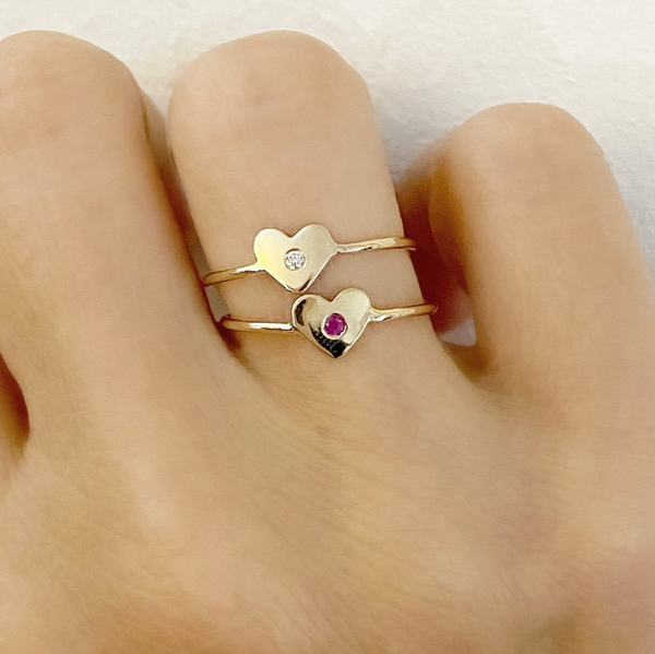 Ruby Faith Heart Ring