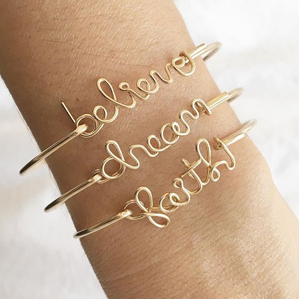 Inspirational Faith Bangle