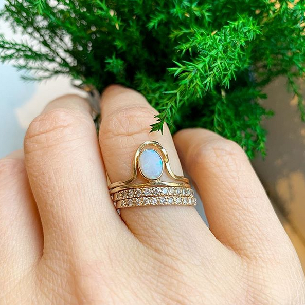 Riley Opal Ring Stack
