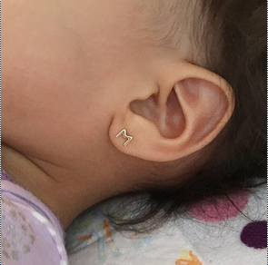 Baby Initial Studs