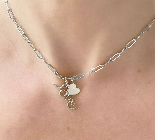 Love Heart Charm Choker