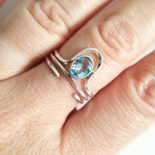 Riley Topaz Ring Set