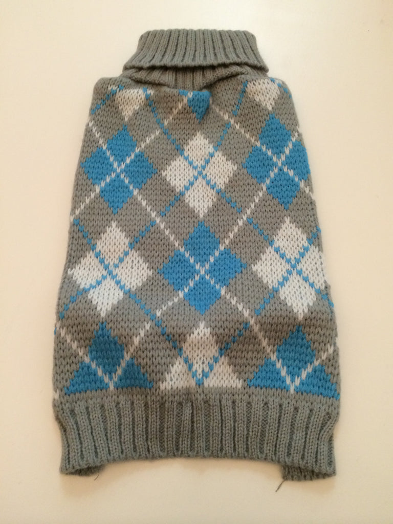 Dog Sweater Argyle Knit