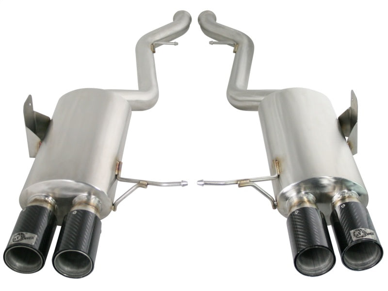 aFe MACHForce XP Exhaust Cat-Back 2.5in Dia Carbon Fiber Tips SS-304 08-13 BMW M3 (E90) V8 4.0L
