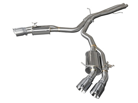 aFe 18-20 Audi RS5 Coupe MACH Force-Xp 3in to 2.5in 304 SS Axle-Back Exhaust System-Quad Polish Tips