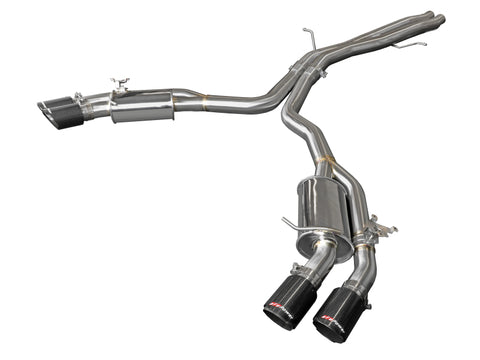 aFe 18-20 Audi RS5 Coupe MACH Force-Xp 3in to 2.5in 304 SS Axle-Back Exhaust System-Quad Carbon Tips