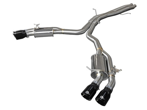 aFe 18-20 Audi RS5 Coupe MACH Force-Xp 3in to 2.5in 304 SS Axle-Back Exhaust System (Quad Black Tip)