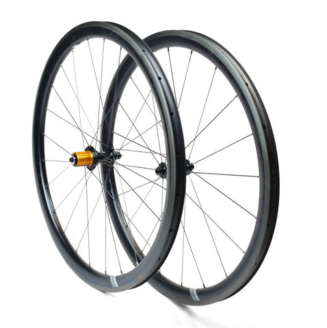 Carbon PR38 rim brake wheel set 700c