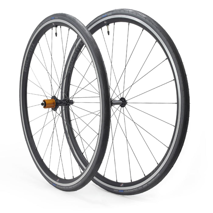 WINTER TRAINING BUNDLE - Forza wheelset rim brake (32h) with Schwalbe Durano Tyres, Tubes and Skewers
