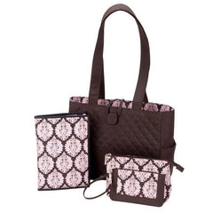 JP Lizzy Cotton Candy Damask Classic Tote Set