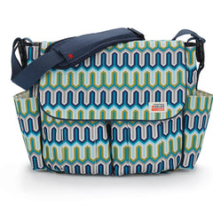 Skip Hop Jonathan Adler Dash Messenger Diaper Bag - Blue Chevron