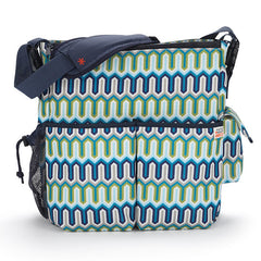 Skip Hop Jonathan Adler Duo Essential Diaper Bag - Blue Chevron