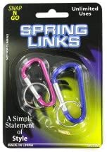 2 Pack spring links -assorted colors - Pack of 96