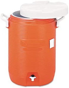 "Insulated Water Cooler, 5 Gal, Orange, 10""dia X 19 1/2""h, Polyethylene"