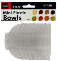 Handy Helpers Clear Mini Condiment Bowls Set