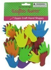 Foam craft hand and feet shapes, Case of 36