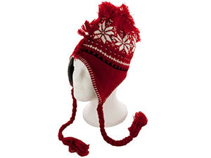 Insulated Winter Design Knit Hat with Fringe - Pack of 16